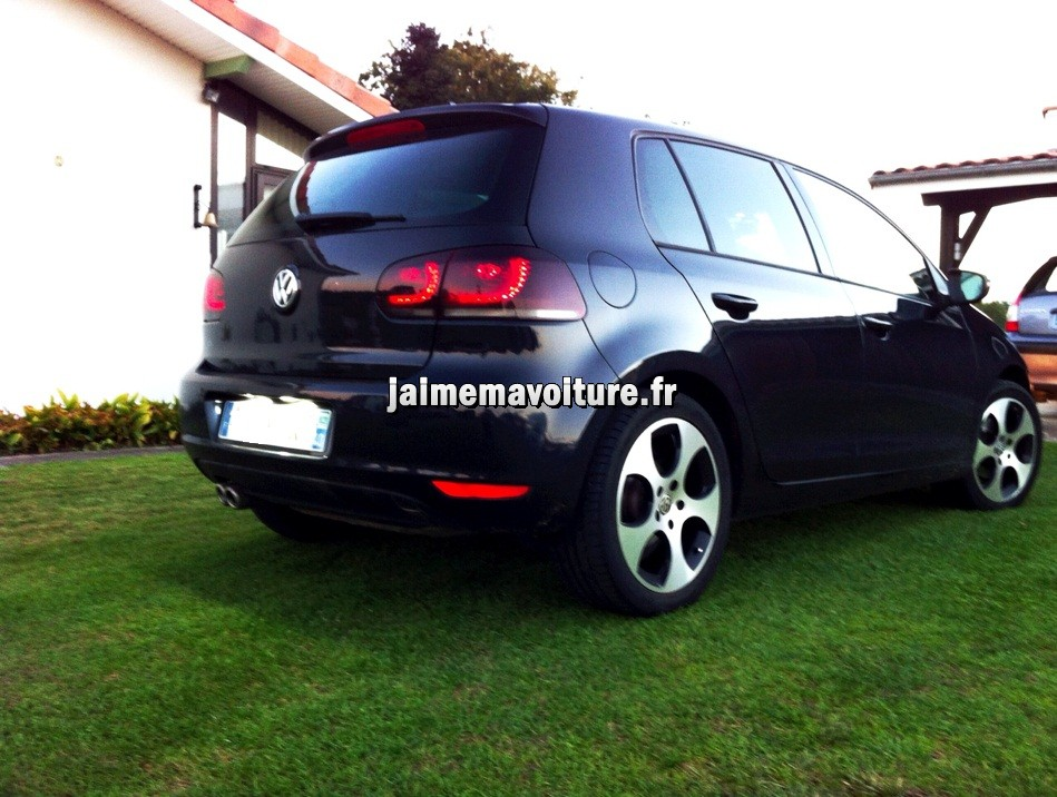 feux arri res rline sur vw golf 6 pi ce tuning voiture. Black Bedroom Furniture Sets. Home Design Ideas