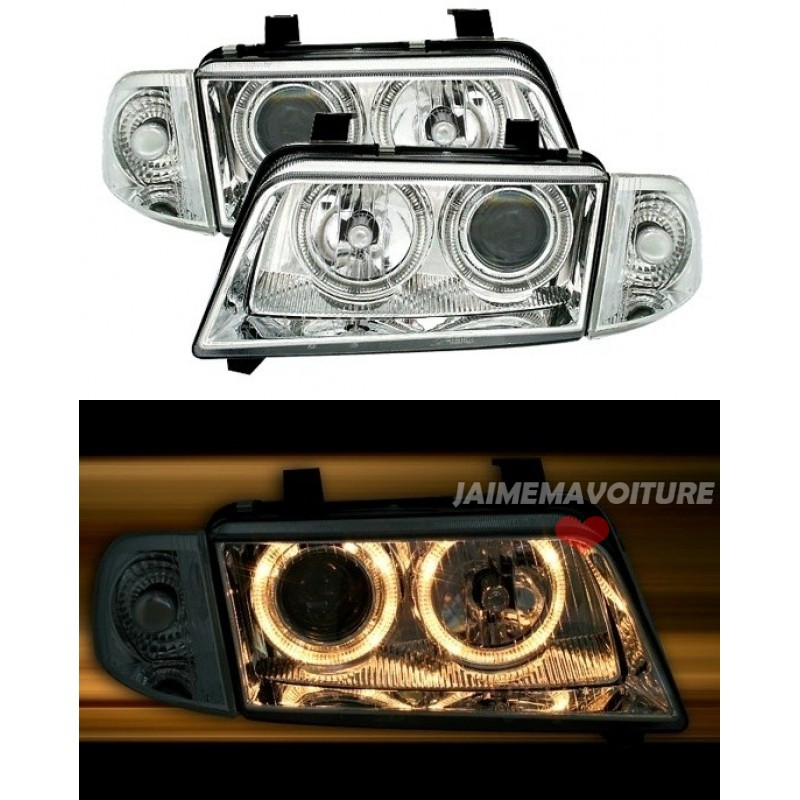 Angel eyes pour Audi A4 chrome