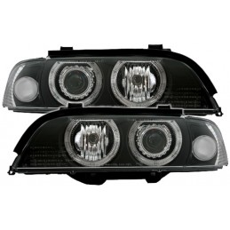 Phares avants Angel eyes BMW E39 noir