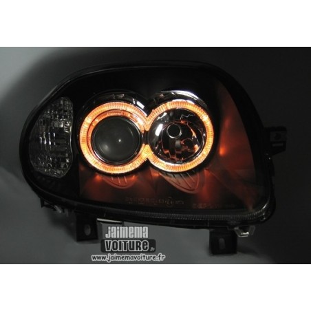 Renault Clio 2 Angel Eyes phase 1 Depo - Noir