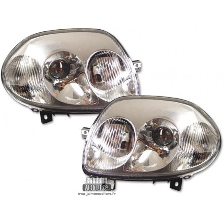 Renault Clio 2 Angel Eyes phase 1 FK Design - Chrome