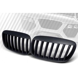 Matte black design grille for BMW X 6