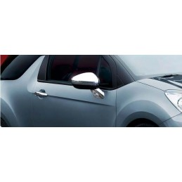 Shell mirrors chrome aluminum 2 Pcs stainless CITROËN DS3