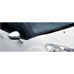 Coque de rétroviseurs chrome alu 2 Pcs Inox CITROËN DS4