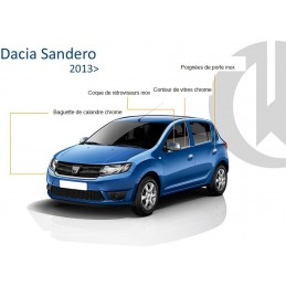 Outline of window chrome alu 4 Pcs stainless DACIA SANDERO 2013