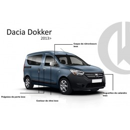 Outline of window chrome alu 4 Pcs stainless DACIA DOKKER