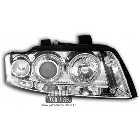Audi A4 8E Angel Eyes Depo - Chrome Xenon
