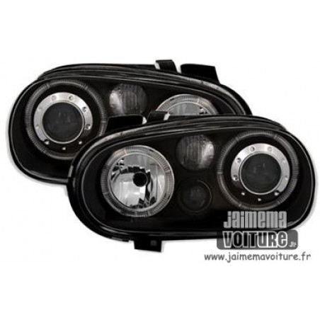Phares avants angel eyes noir Golf 4