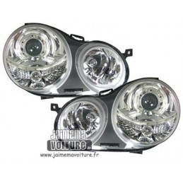 VW Polo 9N Angel eyes Depo Chrome