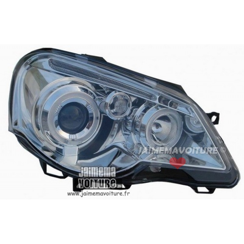VW Polo 9N3 Angel eyes Junyan Chrome