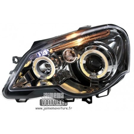 VW Polo 9N3 Angel eyes Junyan - Chrome