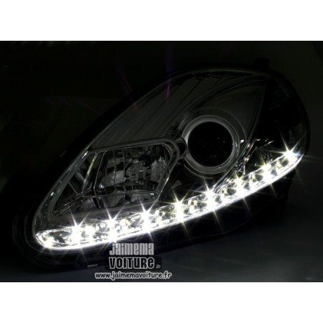 Grande Punto Phares avants Led - Chrome