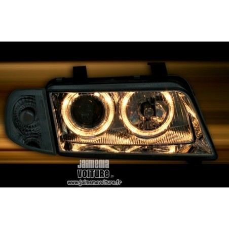 Phares angel eyes Audi A4 B5 Chrome