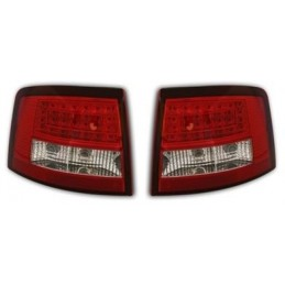 Audi A6 front Break tail lights red led chrome 4511