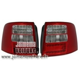Audi A6 before Break lights rear red white leds