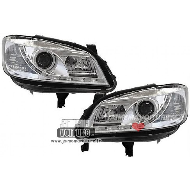 Phares avants led Dayline pour Opel Zafira chrome