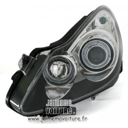 Phares avants Angel eyes Opel Corsa D - Noir