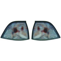 Pair of flashing BMW series 3 E36 sedan Touring Compact gray