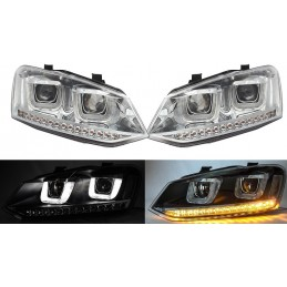 Phares avants U-LED VW Polo 2009-2014