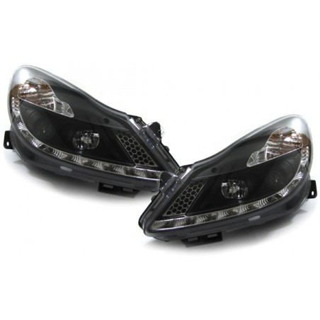 Phares avants à leds Devil eyes Opel Corsa D JY - Chrome