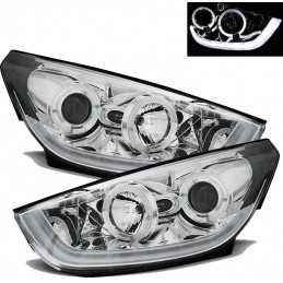 Phares avants tube led pour Hyundai IX35 - Chrome