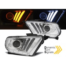 Phares avants led pour Ford Mustang V 2010-2013 - Chrome