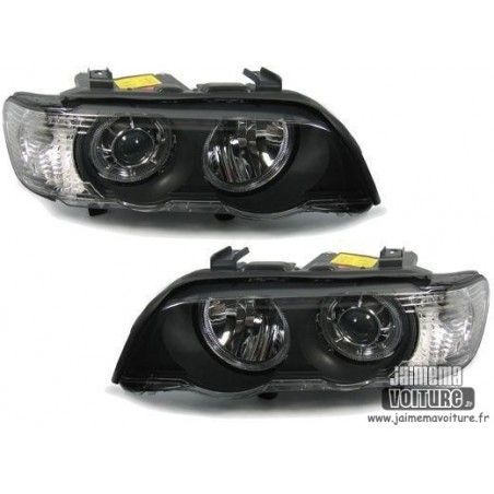 Phares avants angel eyes pour BMW X5 xenon