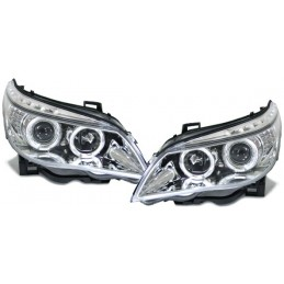 Phares avants Angel eyes BMW Série 5 E60/E61 look LCI - Chrome
