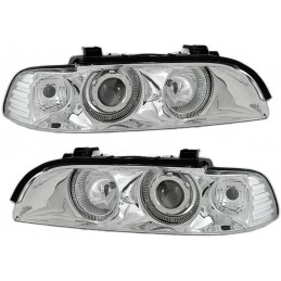 Phares angel eyes Depo BMW Série 5 E39 - Chrome