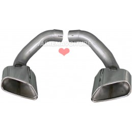 Pair of exhaust tips BMW X6 E71 Pack M