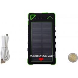 Battery backup + solar charger 8000 mAh