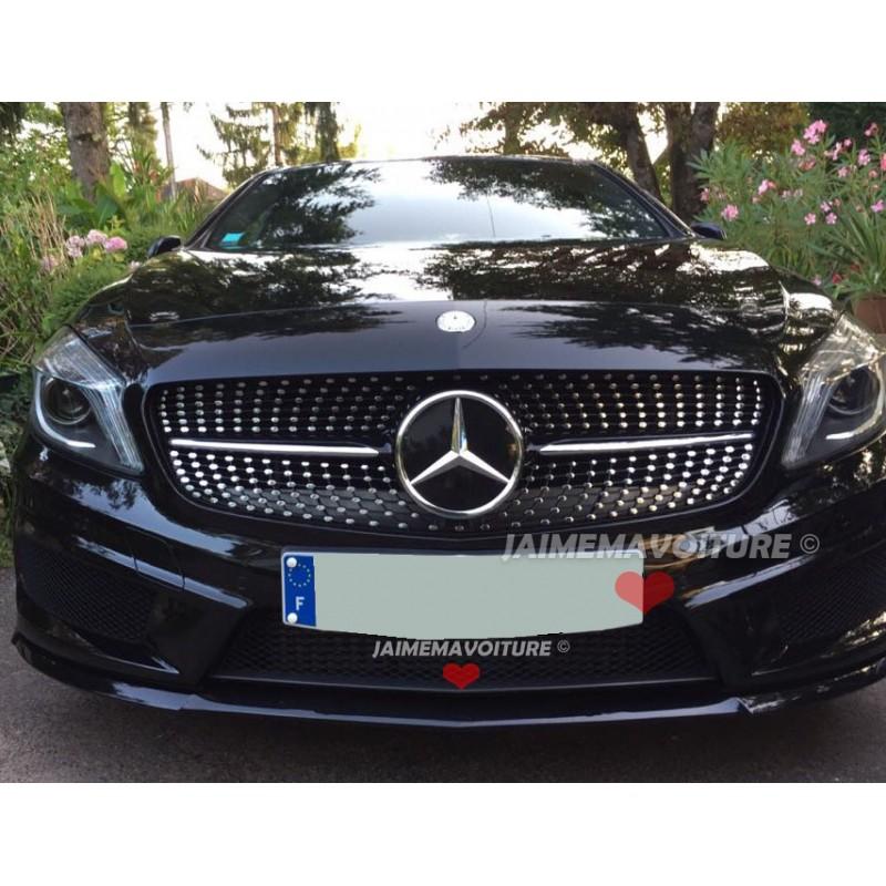 Calandre diamant Mercedes classe A noire