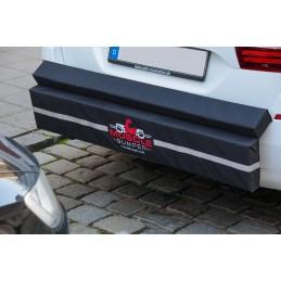 Rear car bumper protection - foam tarpaulin