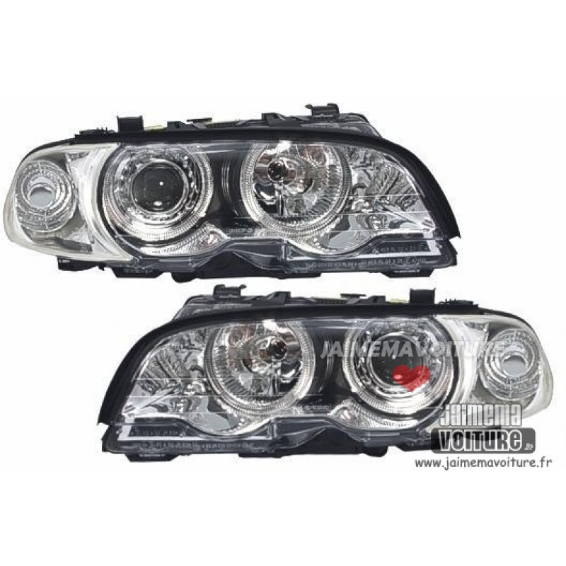 Angel eyes pour BMW E46 Coupé Cabriolet 1999-2001 Chrome