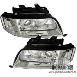 Angel eyes Audi A6 4B 97-99 - Chrome