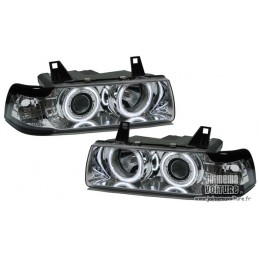 Angel eyes BMW E36 sedan CCFL Chrome