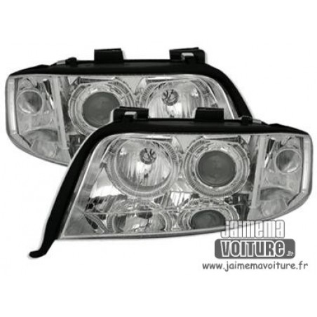 Angel eyes Audi A6 4B C5 01-04 - Chrome