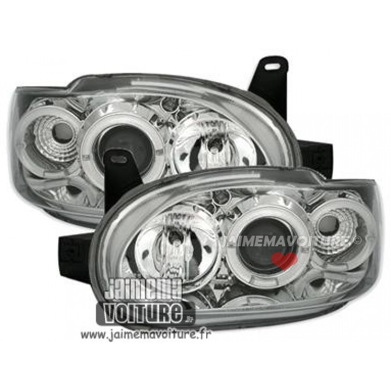 Angel eyes pour Ford Escort MK7 Chrome
