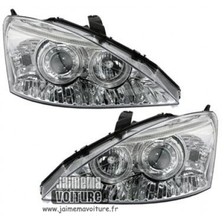Angel eyes Ford Focus 98-01 Depo - Chrome