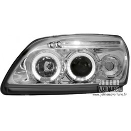 Angel eyes Ford Fiesta 99-02 Chrome