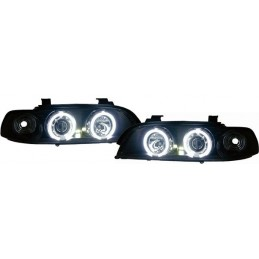 Phares avants angel eyes BMW E39 CCFL Noir