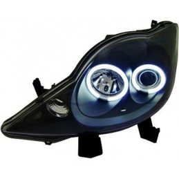 Feux avants Angel eyes CCFL Peugeot 107 tuning
