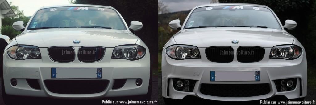 BMW Série 1 : avant / après