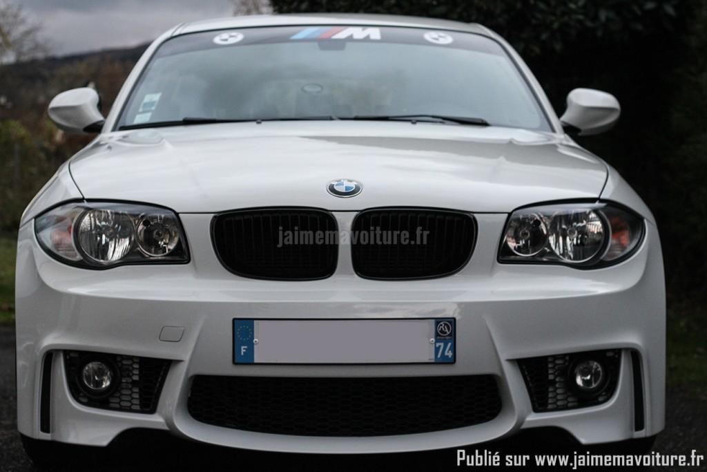 BMW Série 1 avec pare chocs avant 1M - Face