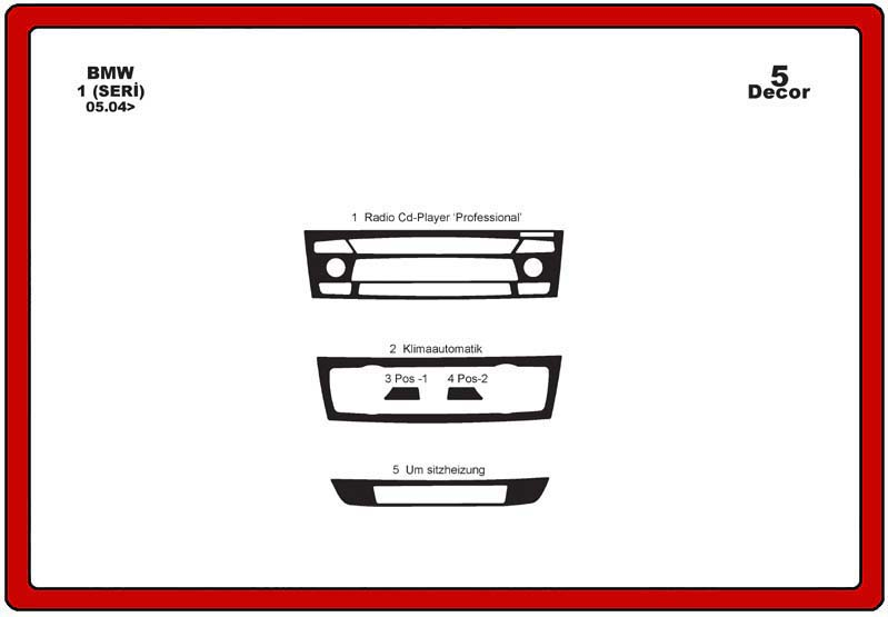 insert tableau de bord bmw s rie 3 e90 e91 5 pi ces. Black Bedroom Furniture Sets. Home Design Ideas