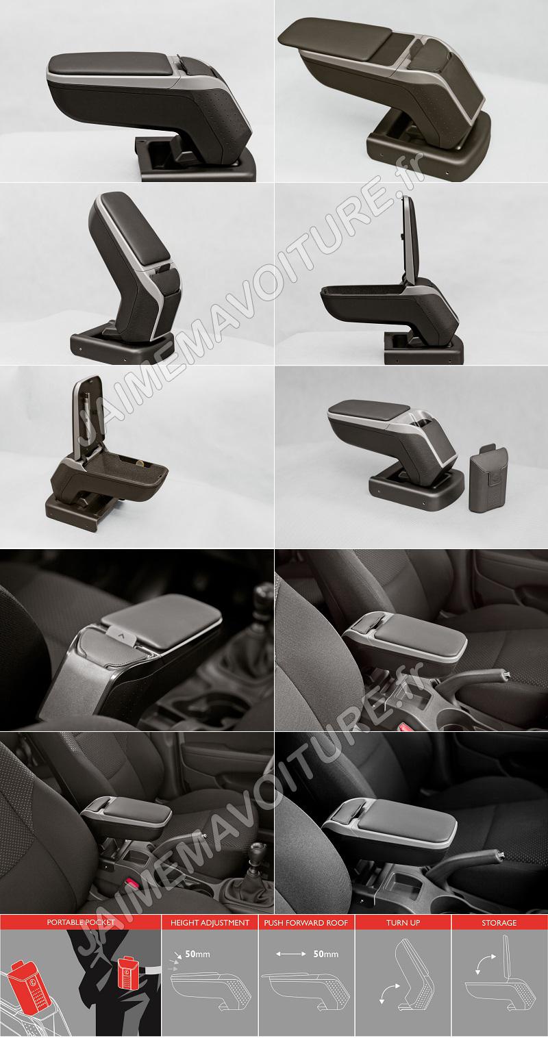 Opel Corsa E Coupe moyens Accoudoir//Accoudoir Noir Art-Cuir
